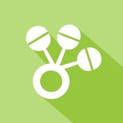 Icono sonajero verde SOMBRA