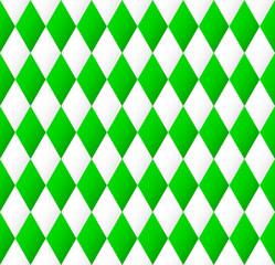 nahtloses Rautenmuster in grün und weiß