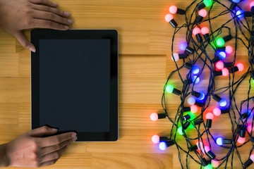 Garland and digital tablet