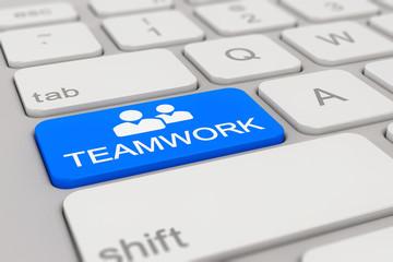 Tastatur - teamwork - blau