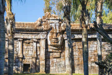 Recreation of Cambodian temple of Angkor