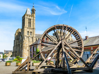 Medieval Cathedral and ancient mechanism, Brittany, France