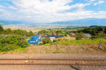 日本の姨捨山駅