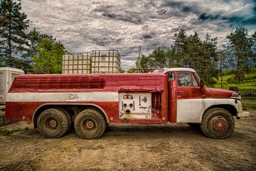 Old fire truck HDR shooting