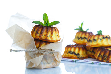 muffin with cheese stuffing poppy