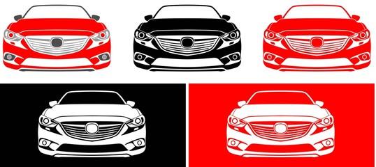 japan car face of red, black colour