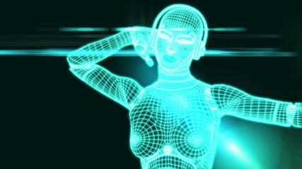 Dancing Matrix Robot Girl