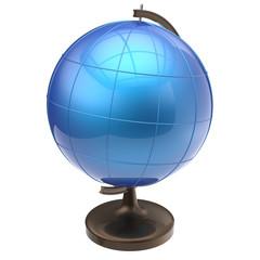 Globe blank blue Earth planet world icon classic