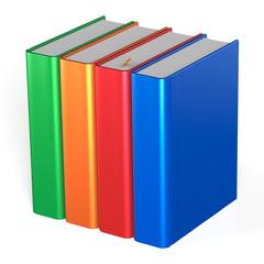 Blank books four textbooks bookshelf educational icon