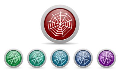 spider web vector web icon set