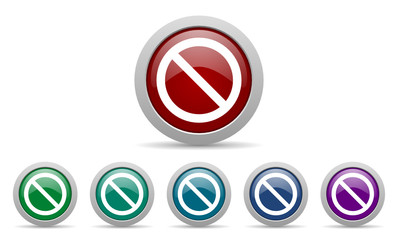 access denied vector web icons set
