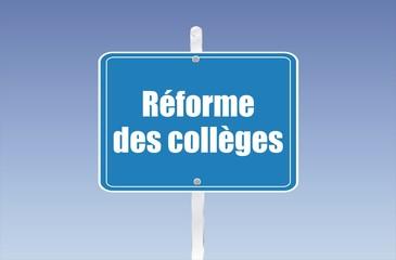 panneau réforme des collèges 18052015