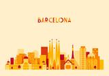 Fototapety Barcelona, Spain, big city skyline