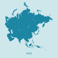 ASIA MAP flat design illustration vector