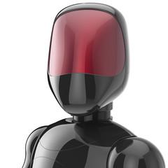 Cyborg black robot  futuristic character avatar