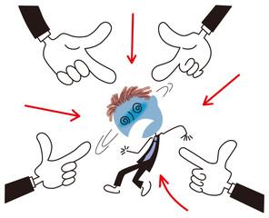 複数の上司から責められる社員