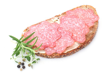 Wholesome Bread with Salami