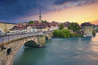 Bern. Image of Bern, Switzerland, during dramatic sunset.