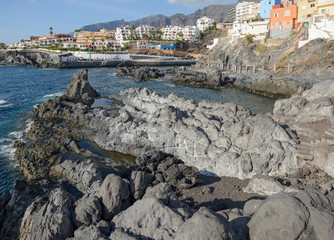 Coast view towards Puerto de Santiago, Tenerife, Canary Islands,