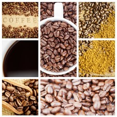 Composite image of coffee beans