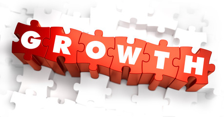 Growth - Text on Red Puzzles.