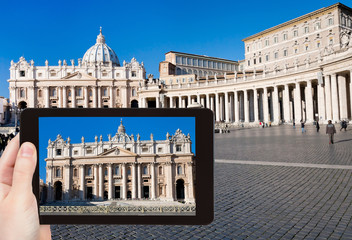 photo of St.Peter Cathedral on square in Vatican