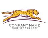 cheetahs sprint logo image vector