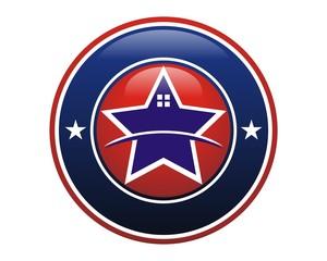 star home logo image vector