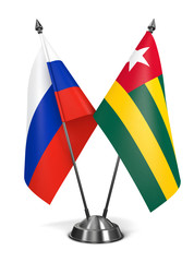 Russia and Togo - Miniature Flags.