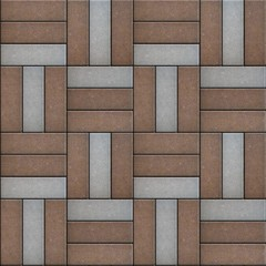 Brown and Gray Rectangle Laid in Form of Weaving.