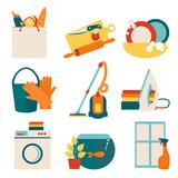 Fototapety House work concept vector illustration.