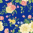 Seamless floral pattern with  colorful flowers.