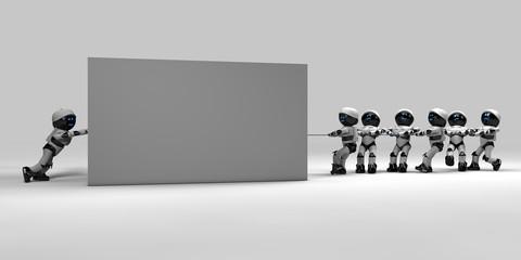 Robot e cubo