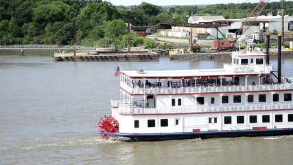 Steamboat on Savannah river, Georgia