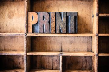 Print Concept Wooden Letterpress Theme