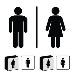 Toilet vector icons - Male and female toilette sign