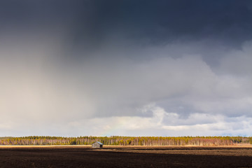Rain And Sun Over The Fields