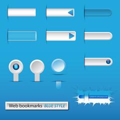 Segnalibri web - Blue style