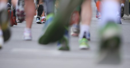 4K - Marathon. Runners legs
