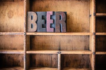 Beer Concept Wooden Letterpress Theme