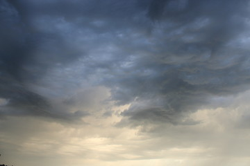 Evening landscape with clouds
