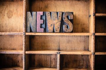 News Concept Wooden Letterpress Theme