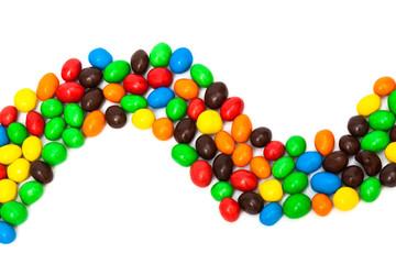 beautiful multi-colored candy