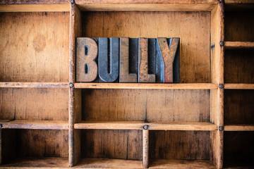 Bully Concept Wooden Letterpress Theme