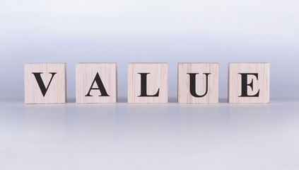 Value Word cubes photo