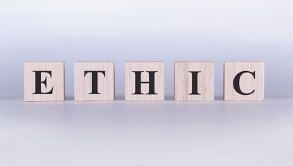 Ethic Word cubes photo