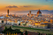 Quadro Sunset view of Florence and Duomo. Italy