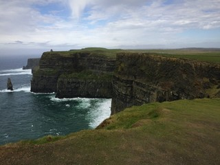 Seashore dramatic cliff view at Cliffs of Moher,Ireland