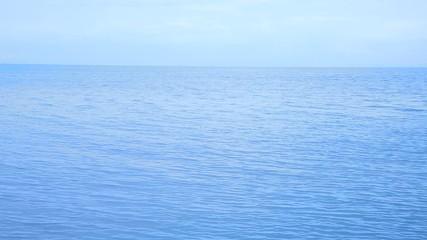 Blue colour seascape with waves