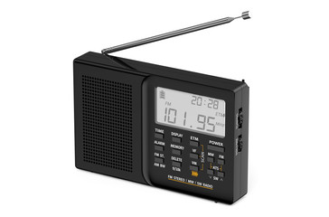 black digital radio